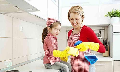 مشارکتدادن فرزندان در کارهای خانه