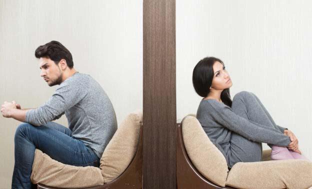 زن و مرد ناراحت