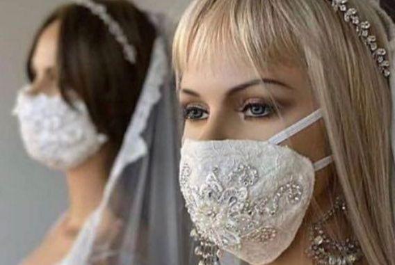 ماسک کرونا برای عروس