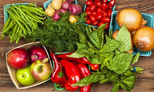 میوه و سبزیجات نشسته