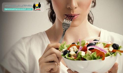 مصرف مواد غذایی حاوی پروتئین