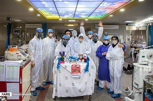 تحویل سال نو در بخش کرونای بیمارستان بقیه الله (عج)