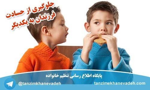 جلوگیری از حسادت فرزندان به یکدیگر
