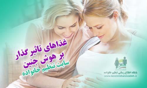 غذاهای تاثیرگذار بر هوش جنین