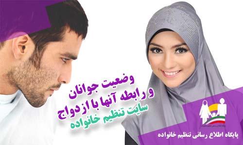 آخرین وضعیت جوانان و رابطه آنها با ازدواج