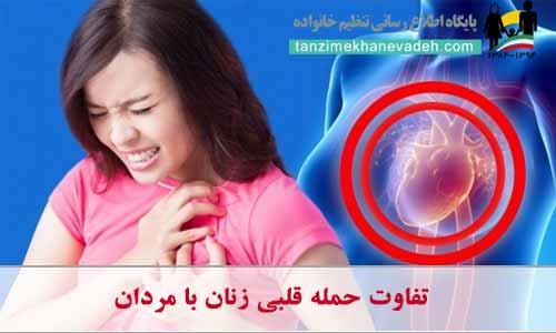 تفاوت حمله قلبی زنان با مردان