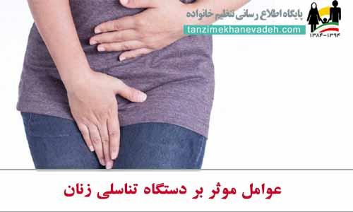 عوامل موثر بر دستگاه تناسلی زنان