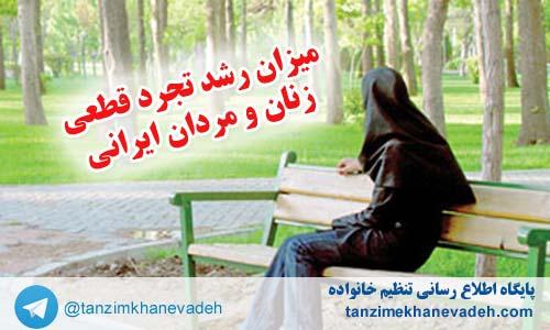 میزان رشد تجرد قطعی زنان و مردان ایرانی