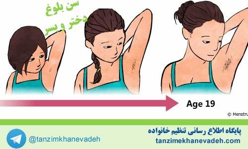 تغییرات فیزیکی بلوغ در دختران