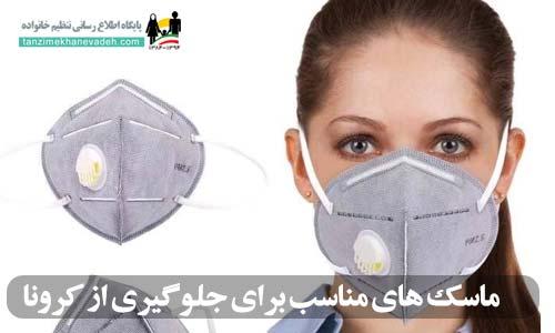 ماسک های مناسب برای جلوگیری از کرونا